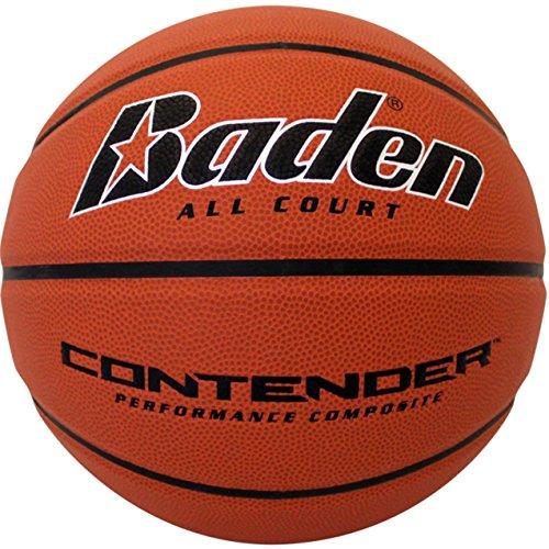 Baden Contender Official Wide Channel Basketball, Natural Orange Color, 29.5-Inch