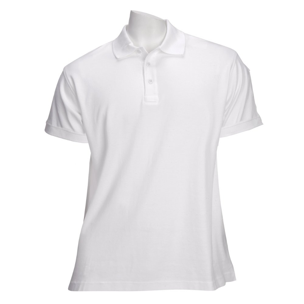 5.11 Women's TACTICAL Polo Short Sleeve Tactical Shirt, Style 61164, White, XL