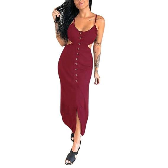 JYC Verano Falda Larga,Vestido Camiseta Encaje,Elegante Casual,Vestido Fiesta Mujer Largo