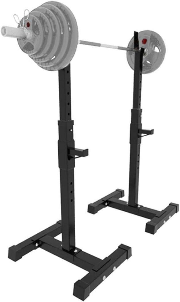 GASLIKE Barbell Rack Adjustable Squat Rack Home Garage Gym Portable Dumbbell Racks,Black,Max Load 220 LBS