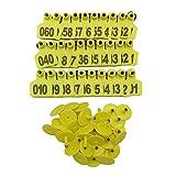 No 0001-1000 Pig Ear Tag Laser Typing Copper Head Farm Animal Identification Card Custom Ear Tag