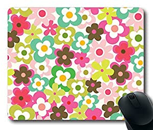 "Fashion Floral Pattern Rectangle Oblong Mouse Pad Design Mousepad in 220mm*180mm*3mm (9""*7"") -81944 by ruishername"
