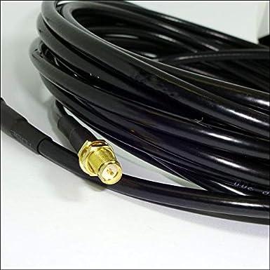 OXYWAVE LMR 200 - Cable coaxial con Conector SMA-Macho (5 m ...