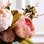 Mcupper-Artificial-Flowers-Vintage-Fake-Silk-Peony-Flowers-Wedding-Bush-Bouquet-Flower-Arrangement-for-Home-Decor-Party-Floral-Wreath-Centerpieces-Decoration-and-DIY-Dark-Pink