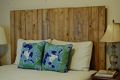 Oak King Headboard - Golden Oak Oil Based Stain Finish - King Hanger Headboard with Vertical Boards. Mounts on Wall.