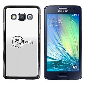 Stuss Case / Funda Carcasa protectora - Dude Face - Lol Roll Wtf Meme - Samsung Galaxy A3