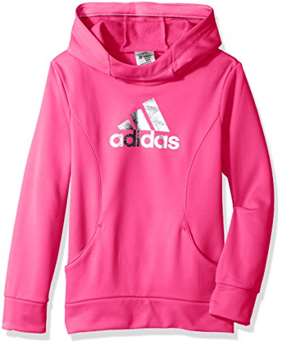 adidas Big Girls' Performance Hoodie, Solar Pink, S