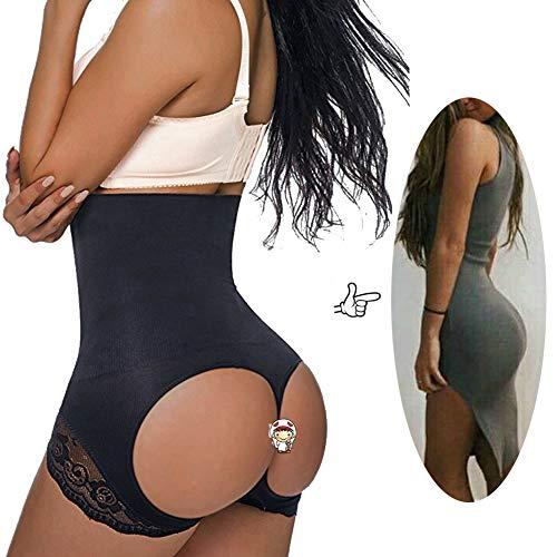 - Jason&Helen Women's Butt Lifter Shaper Seamless Tummy Control Hi-Waist Thigh Slimmer Black Medium/Large