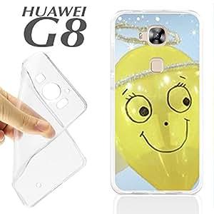 J599 HUAWEI G8 GEL CARCASA FUNDA TPU DIVERTIDO GLOBO ANGEL