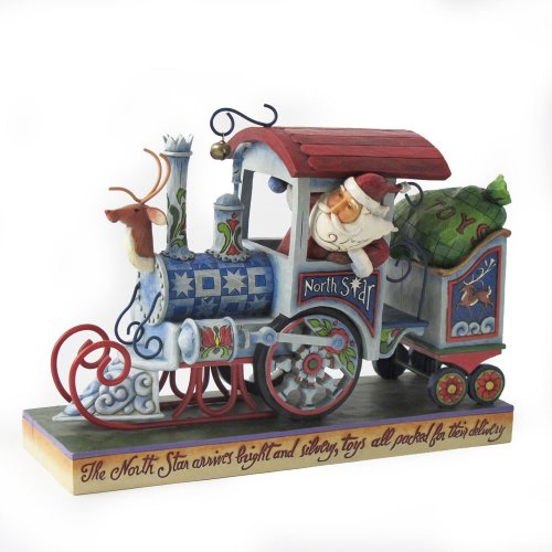 Enesco Jim Shore Heartwood Creek Santa Christmas Train Figurine, -