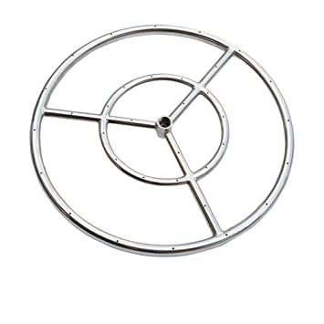 Amazon Com Onlyfire 12 Inch Stainless Steel Round Fire Pit Burner