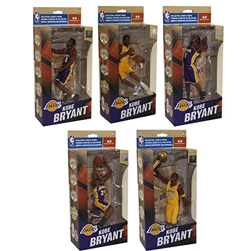 n Figures - KOBE BRYANT Championships SET OF 5 (2000, 2001, 2002, 2009 & 2010) (Bryant Set)