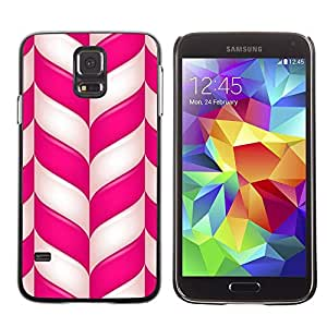 LECELL--Funda protectora / Cubierta / Piel For Samsung Galaxy S5 SM-G900 -- Candy Cane Christmas Holidays Winter Mint --