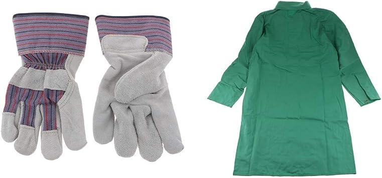 Sharplace Traje de Soldadura Ignífugo Verde XL Color + Guantes de Trabajo para Soldar: Amazon.es: Bricolaje y herramientas