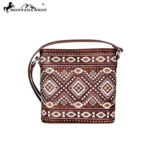 - Montana West Crossbody Messenger Purse Aztec Collection MW709-8360 Coffee