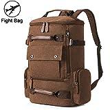 Large Canvas Backpack for Men, Yousu Man Travel Duffel Backpacks Large Capacity Backpack Bag Casual Vintage College School Rucksack Vintage Daypack Coffee