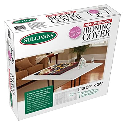 Sullivans Home Hobby Table Cotton Ironing Cover, 59 by 36-Inch