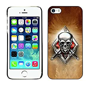 Be Good Phone Accessory // Dura Cáscara cubierta Protectora Caso Carcasa Funda de Protección para Apple Iphone 5 / 5S // Skeleton Crest