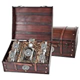 United States Marine Corps Capitol Decanter Wood Chest Set