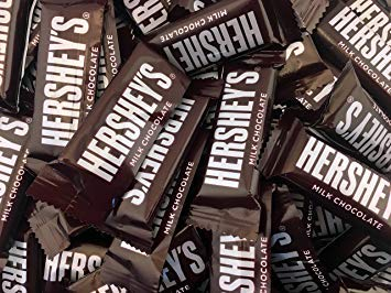 Hershey's Milk Chocolate 5 lbs Snack Size Candy Bars Individually Wrapped Pack Of 5 Lbs -