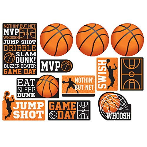 Basketball 'Nothin' But Net' Cutout Decorations (12pc) -