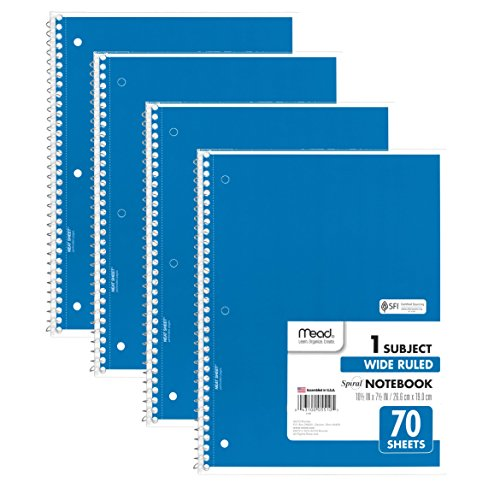 Mead Spiral Notebooks Subject 38400