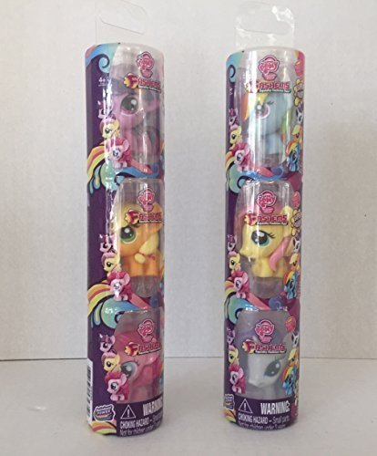 My Little Pony Friendship Is Magic Fash'ems Complete Series 2. Rainbow Dash, Fluttershy and Others Great for MLP Collectors, or a Christmas, Xmas, Hanukkah Play Gift ( 2 bundles of 3 each-Total 6) (Ninja Sharp Feathers compare prices)