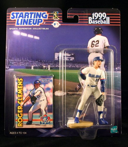 (ROGER CLEMENS / TORONTO BLUE JAYS 1999 MLB Starting Lineup Action Figure & Exclusive Collector Trading Card)