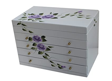 Dipingere Portagioie Di Legno : Lotto di scatole una presenta intarsi in legno con osso