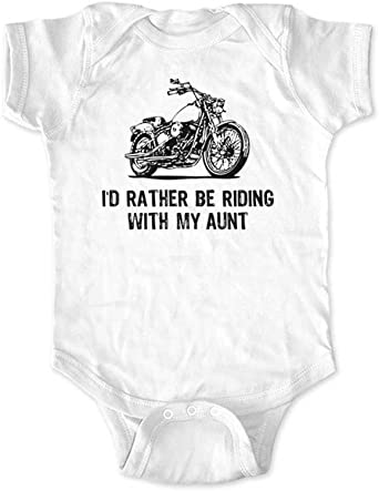 cute /& funny Id Rather be Riding with My Daddy Motorcycle Bike Infant Toddler Shirt