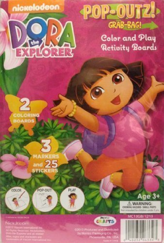 The Board Game Explorer Dora (Dora the Explorer Pop Out Color and Play Activity Boards by Nickelodeon)