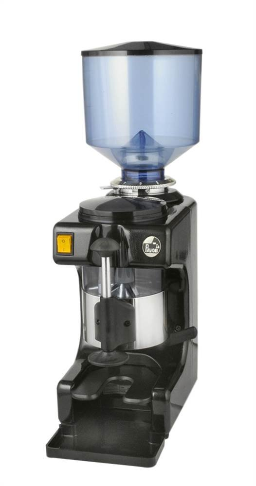 La Pavoni ZIP-B Commercial Coffee Grinder 2.2-Pound Capacity Hopper, Multiple Grind Settings, Black and Stainless Steel