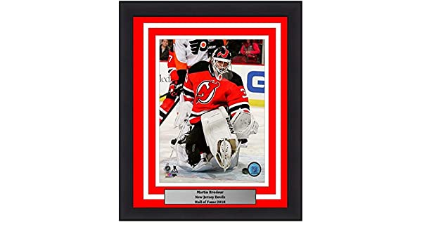 Amazon Com Devils Martin Brodeur 8 X 10 Framed And Matted Hockey