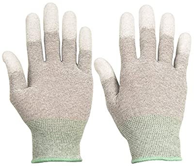 ThxToms ESD Anti Static Gloves, High Resistance Carbon Fiber Protects Your Computer Safe
