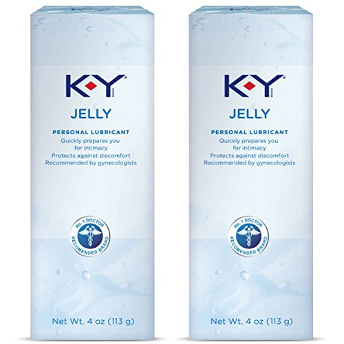K-Y Jelly Personal Lubricant 8 oz (2 Bottles x 4 oz), Premium Water Based Lube For Women, Men & Couples, Pack of 2
