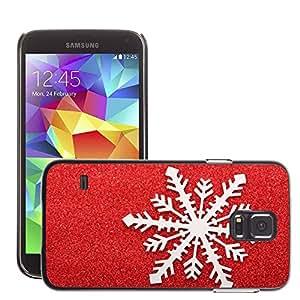 Etui Housse Coque de Protection Cover Rigide pour // M00150863 Navidad Fría Decoración Flake // Samsung Galaxy S5 S V SV i9600 (Not Fits S5 ACTIVE)