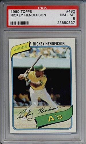 1980 Topps 482 Rickey Henderson Rookie Graded Psa 8 Nrmtmt