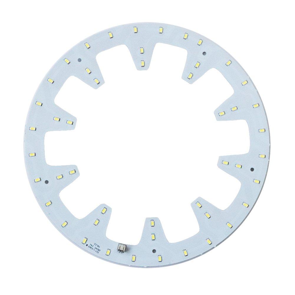 Aolyty - Juego de bombillas LED de repuesto para lá mpara de techo de alta potencia con forma de cí rculo brillante para luz de marcha hacia abajo (1 unidad), Blanco 18.00W