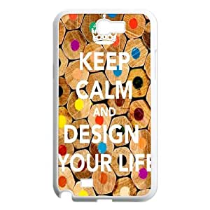 Chinese KEEP CALM AND COLOR YOUR LIFE Customized Phone Case for Samsung Galaxy Note 2 N7100,diy Chinese KEEP CALM AND COLOR YOUR LIFE Case