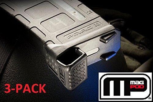 Pod Base - Mag-Pod Base Plate for GEN2 PMAG Black 3-Pack