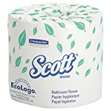 Scott 13607 Standard Roll Bathroom Tissue, 2-Ply, 550 Sheets Per Roll (Case of 20 Rolls)