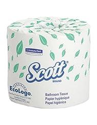 Scott 13607 Standard Roll Bathroom Tissue, 2-Ply, 550 Sheets ...