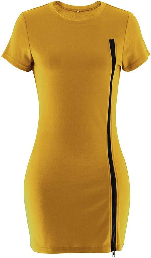 TAOtTAO Women Short Sleeve O Neck Leopard Patchwork Dress Loose Dress