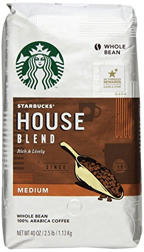 Starbucks House Blend Whole Bean Coffee, 40 Ounce
