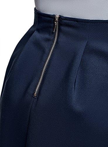 Jupe Mini Doux 7900n Femme oodji Plis Ultra Bleu BtSPPwq