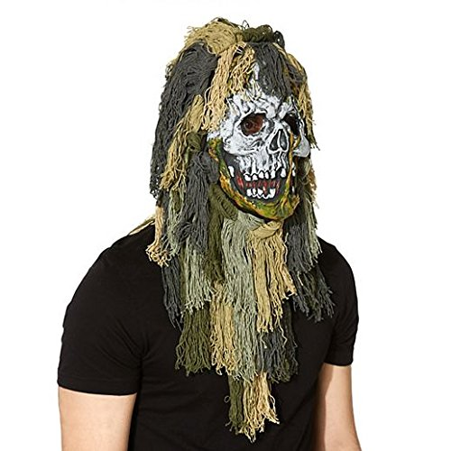 Costume Beautiful Swamp Zombie Mask by Halloween Party