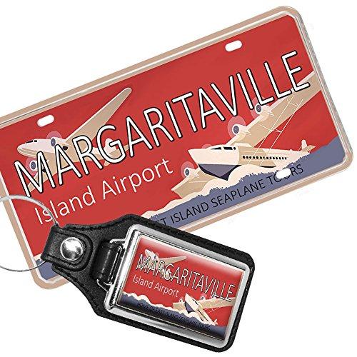 Brotherhood Maragaritaville Island Airport License Plate and Matching Key Ring
