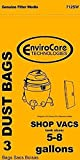 Vacuum Cleaner Bags SHOP VAC Paper Bags-3PK-Fits All Tank Sizes...