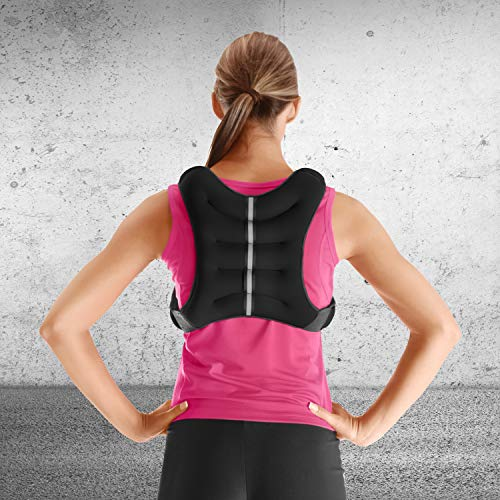 Tone Fitness black Weighted Vest, 12 Lbs