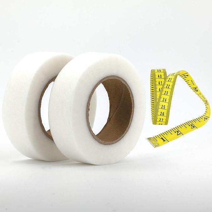 100M Wonder Web Iron On Hemming Tape Adhesive Fabric Roll Clothes Sewing Hem UK~